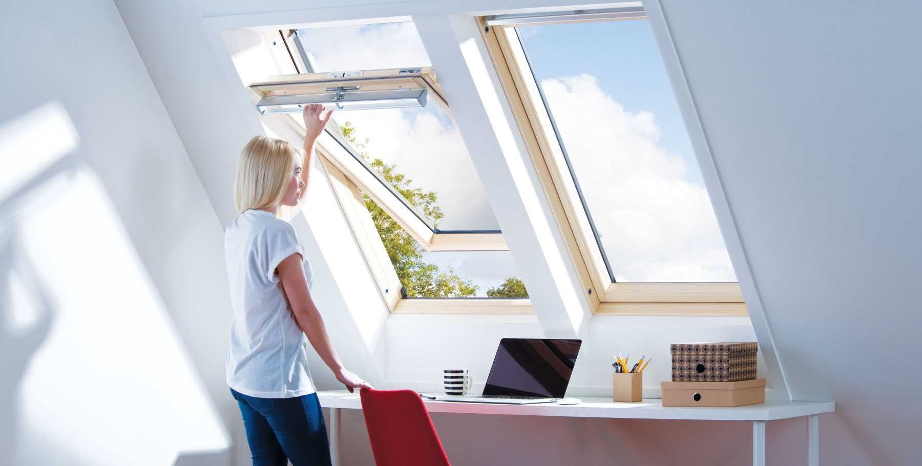 Keylite - Centre Pivot Roof Window by Adlux