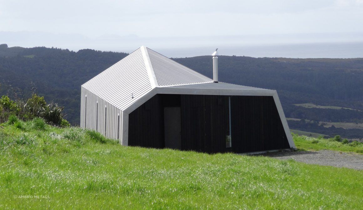 Freedom Gray - Terne Coated Copper. Parkiri, New Zealand.