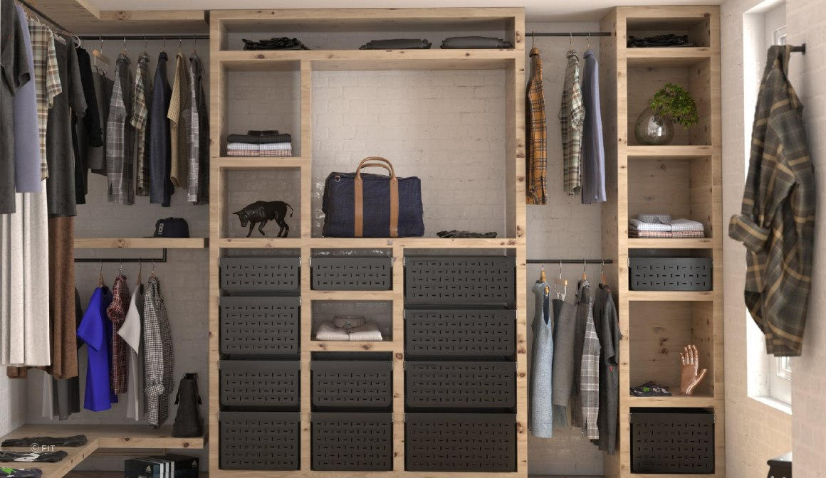 Tanova Ventilated Drawers - custom black - models available with shallower front to back measurement to suit wardrobe use
