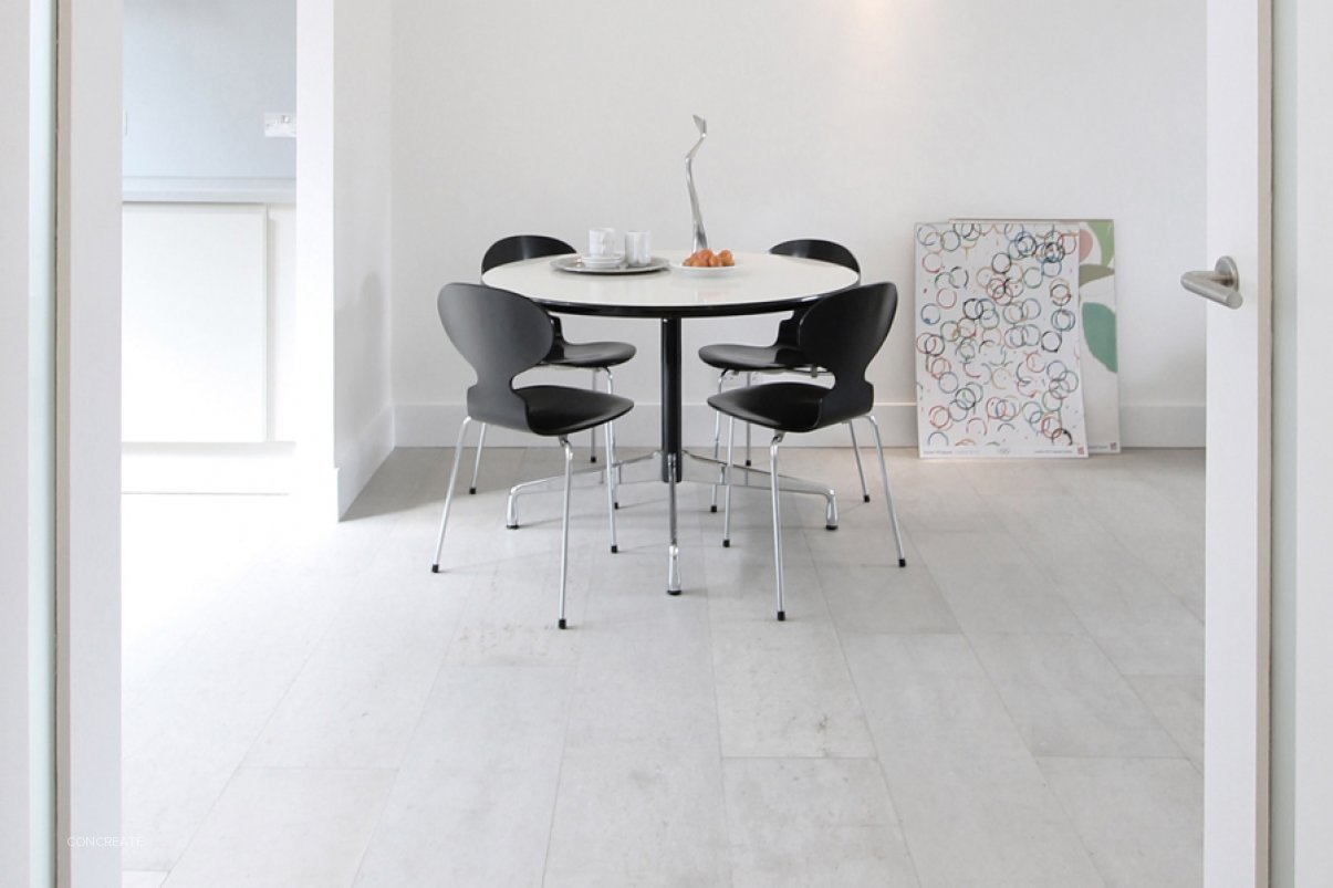 Mineral White Polished Concrete Floor System