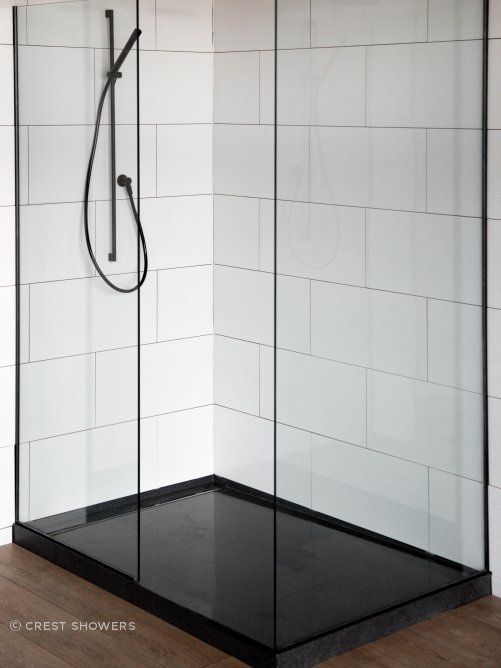 Lacunastone Frameless Glass Showers - Walk-in by Crest Shower Systems