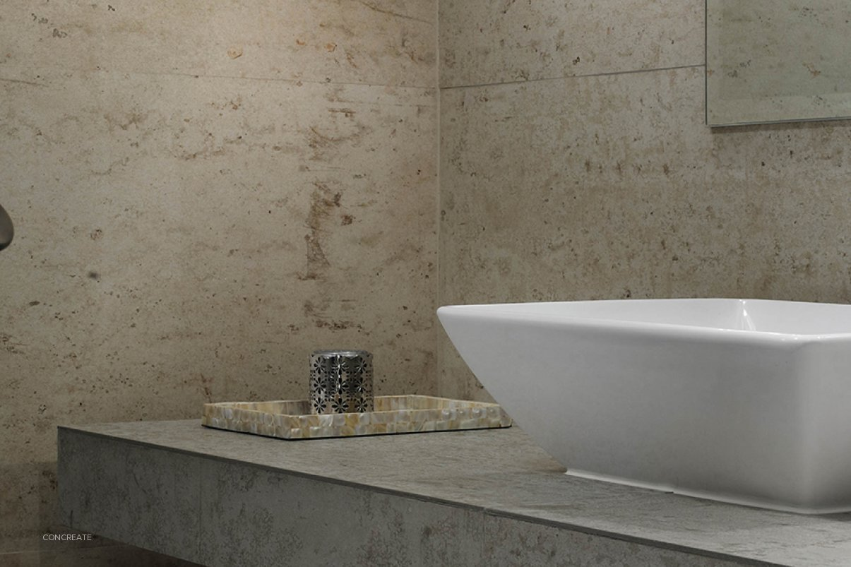 Mineral White Polished Concrete Wall System