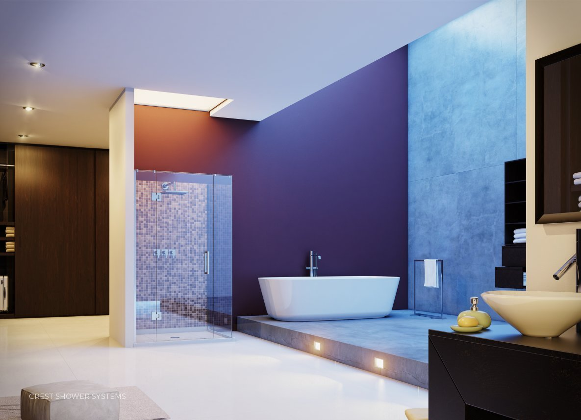 AVA Showers with Ready to Tile Base - Hinged by Crest Shower Systems
