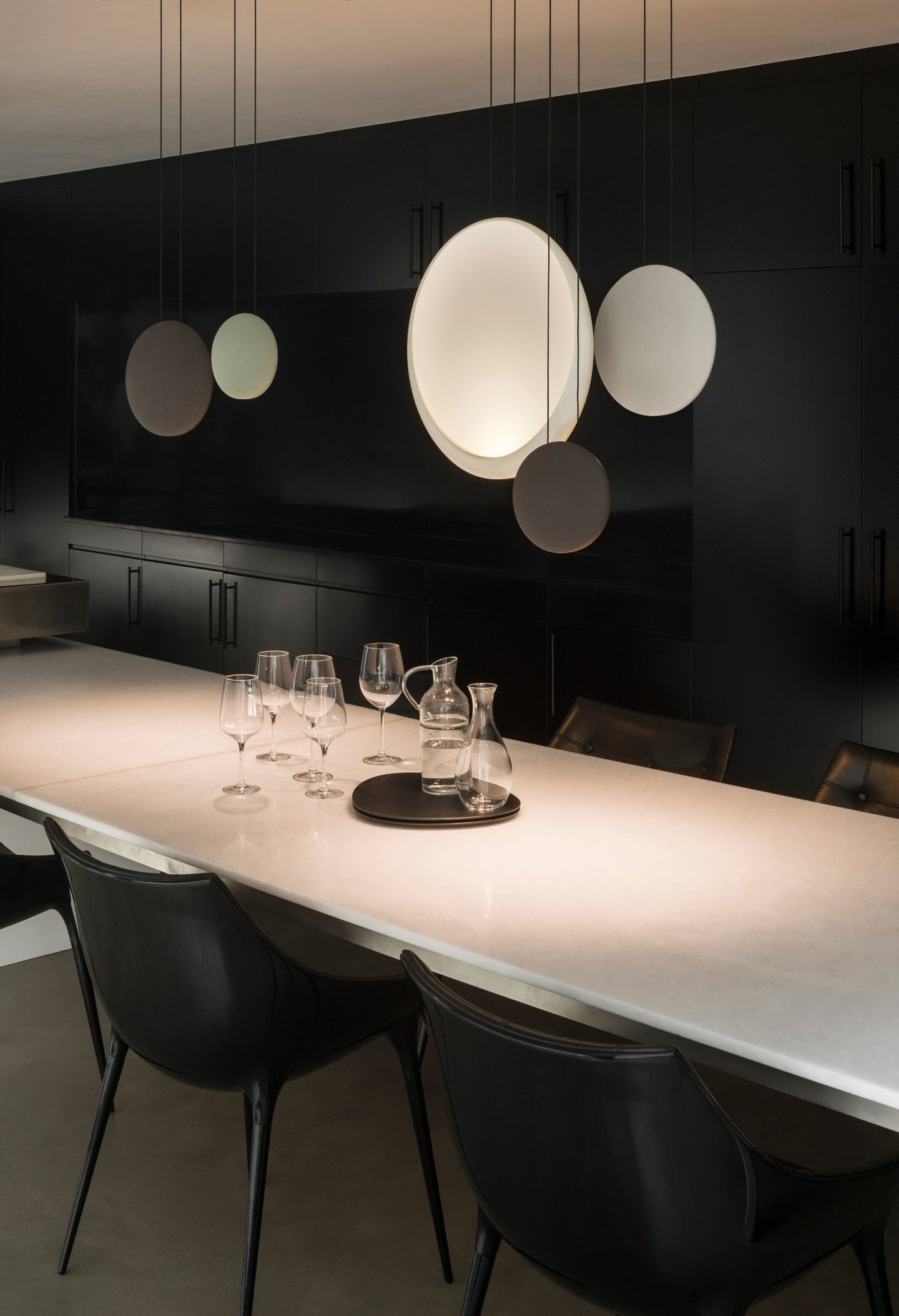 Previous & Cosmos 3 light chandelier by Vibia by ECC