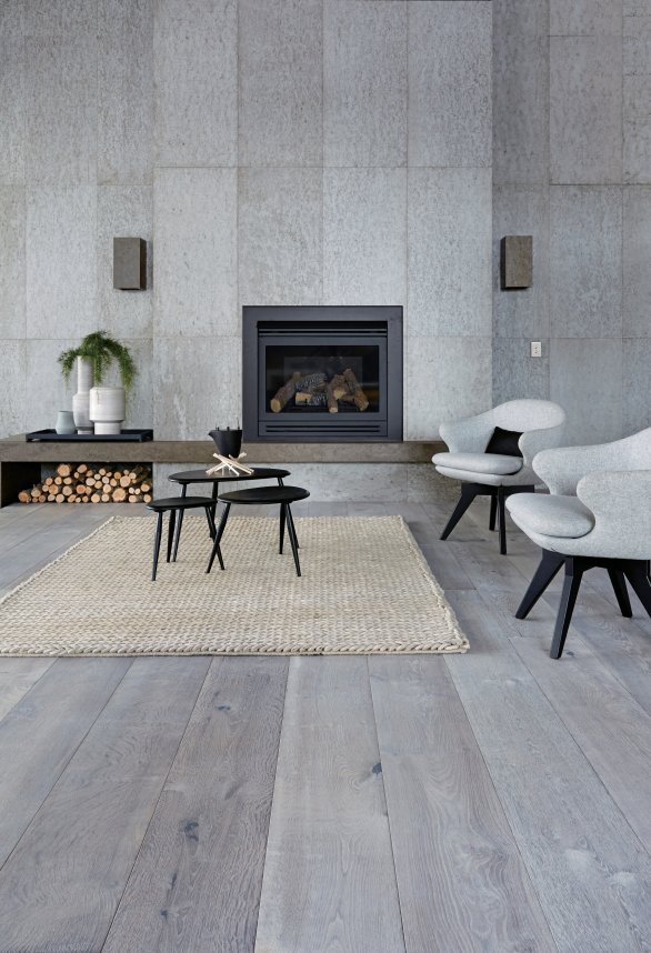 Previous. Natural Grey Polished Concrete Wall System