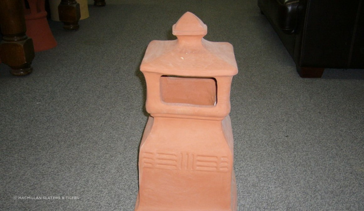 CP13 Deco Clay Chimney Pot
