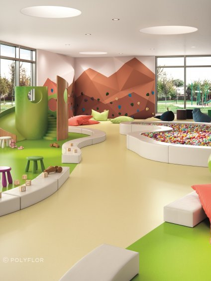 Colourful Palettone vinyl flooring is ideal for early childhood facilities.