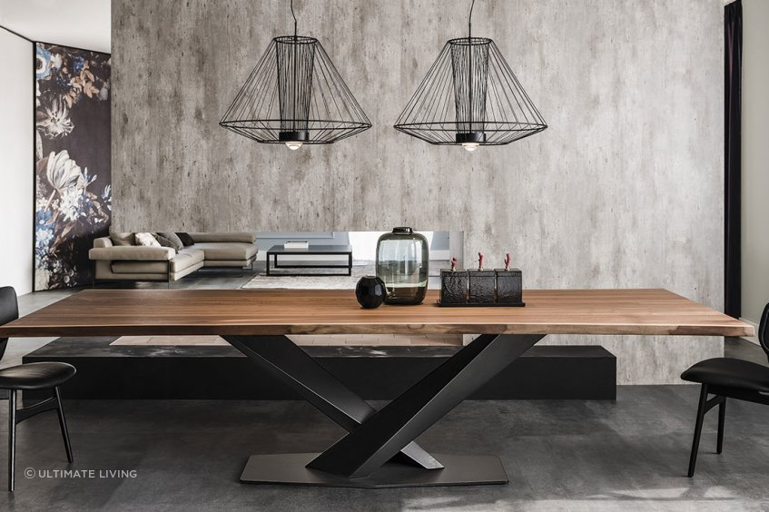Stratos Wood Table by Cattelan.