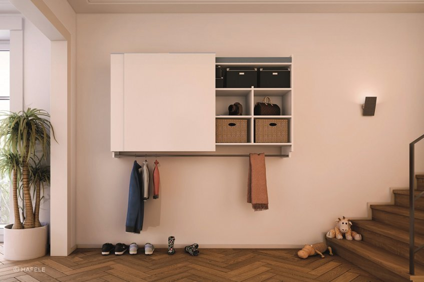 Shelving and storage units make it easier to know where everything in your home is.