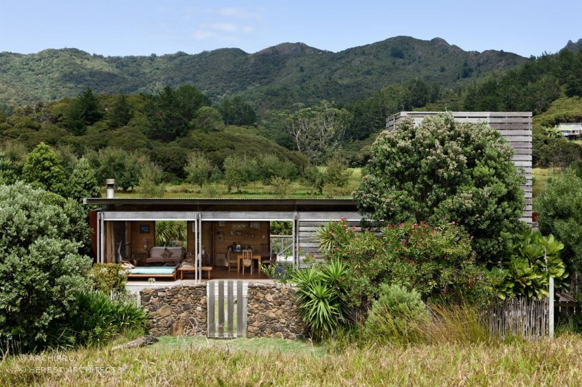 Island Bach, Great Barrier Island, by Herbst Architects.