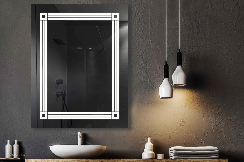 The TEKAPO LED Mirror turns on when it detects motion using its own built-in sensor.