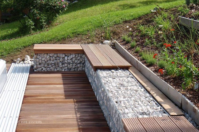 Ideal for urban landscape application, RAWE Gabion Stoneboxes are manufactured in a range of standard sizes and are made with 7mm double-dipped galvanised steel wire.