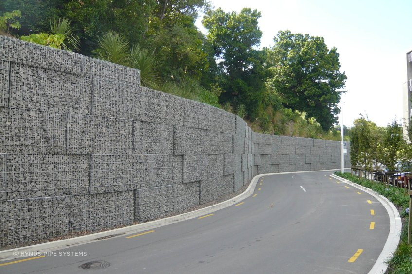 Gabion retaining walls don't require maintenance over time, which makes them ideal for civic and industrial applications.