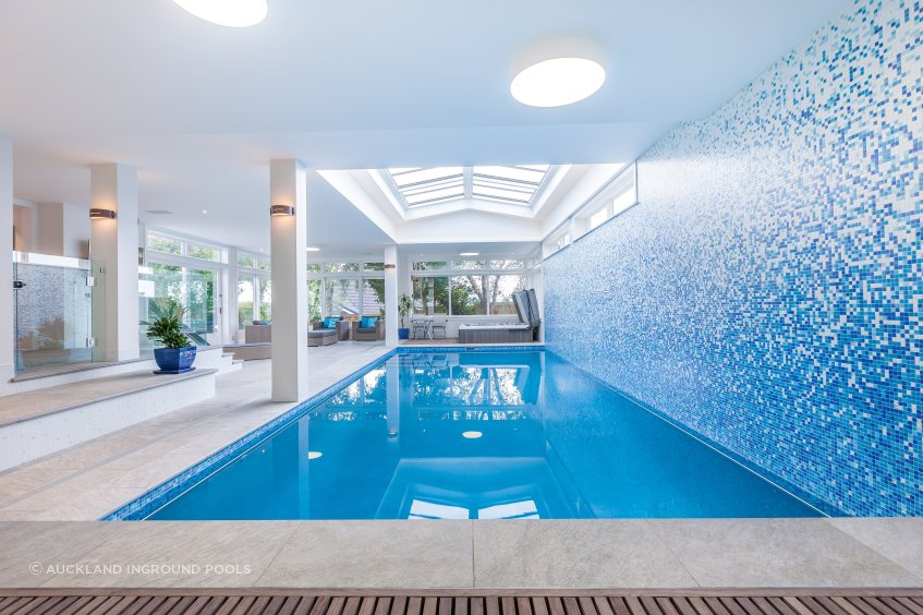 Indoor/outdoor pools are a way to ensure the pool area can be used in all seasons.