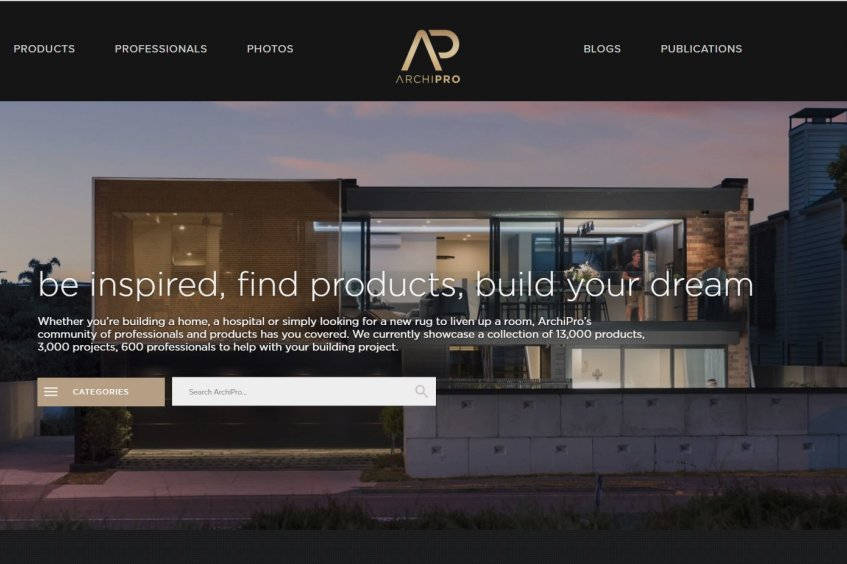 The ever evolving ArchiPro homepage