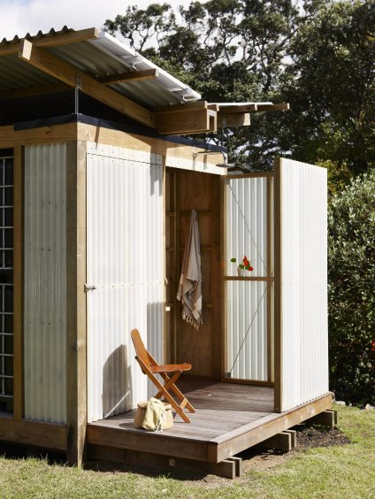 This Utility Shed by Herbst Architects has a built-in outdoor shower.