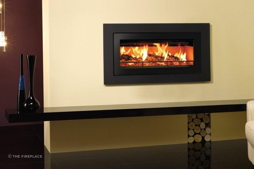 The Stovax Studio 2 fireplace works well as part of the Side by Side setup.