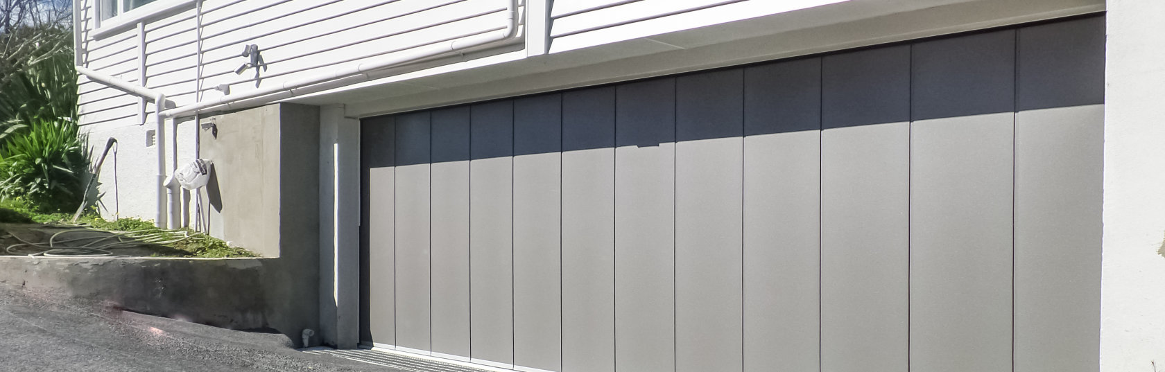 The statement, barn-style garage door