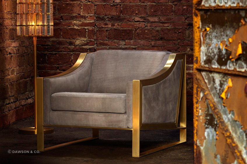 The Wall Street Armchair is a twist on a classic form, with ultra-comfortable seating