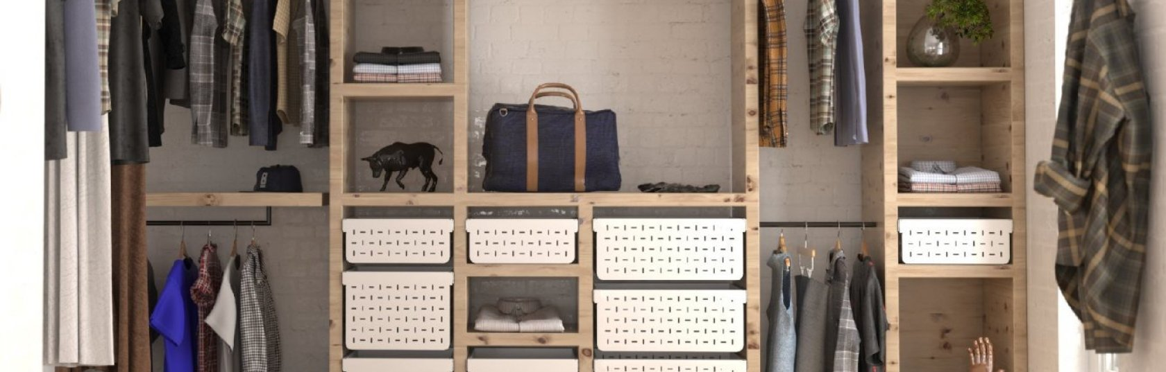 An evolution of basket storage: from traditional wicker to modern steel