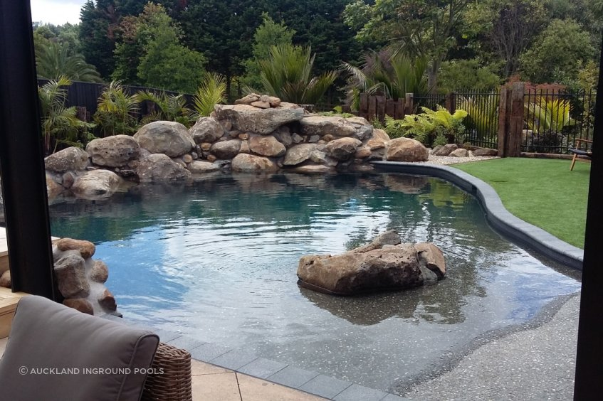 Create your own personal back yard oasis with a rock pool