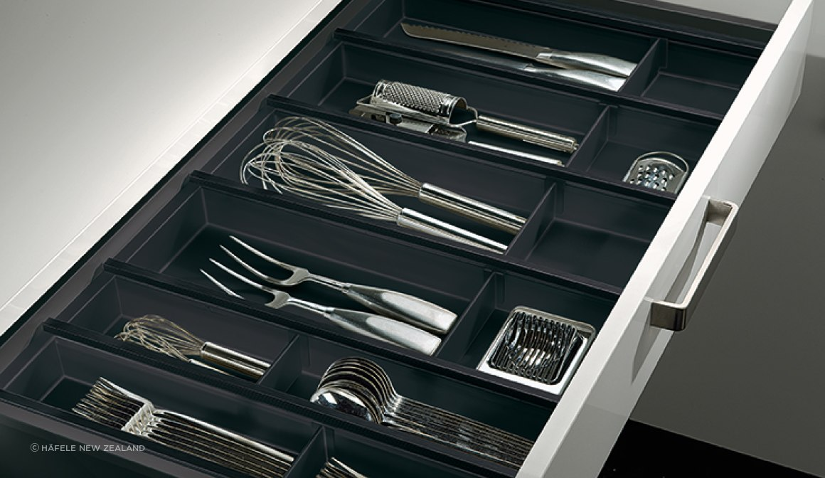 Cuisio Drawer Insert in Graphite finish.