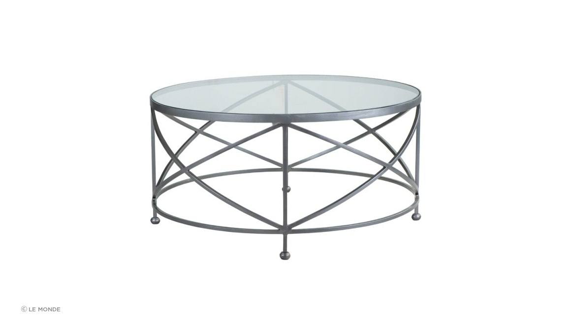 Chicago Coffee Table Silver Cross Base