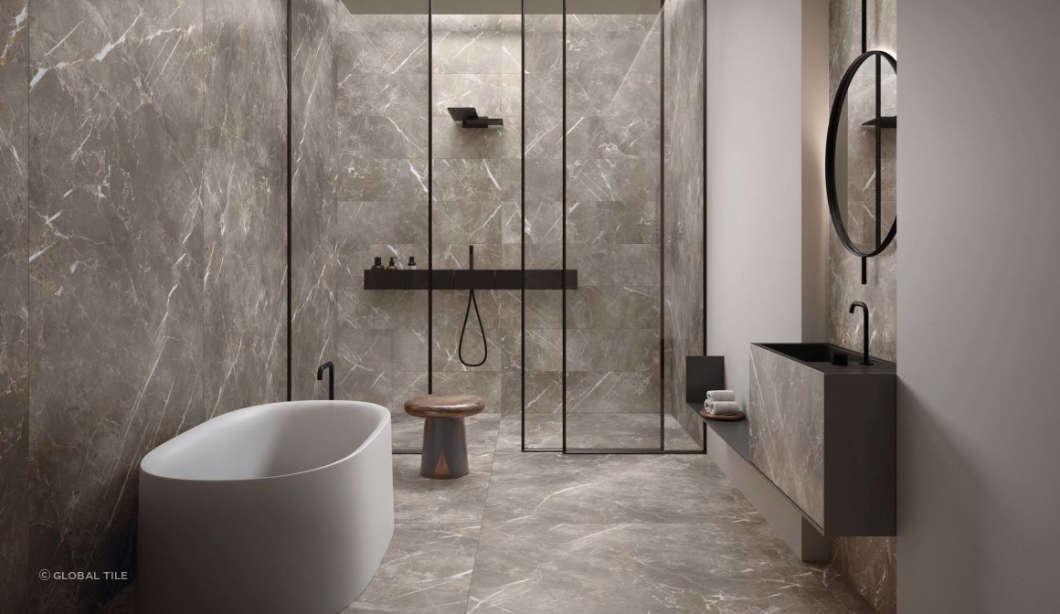 Eclectic Porcelain Tile Series - Persian Grey
