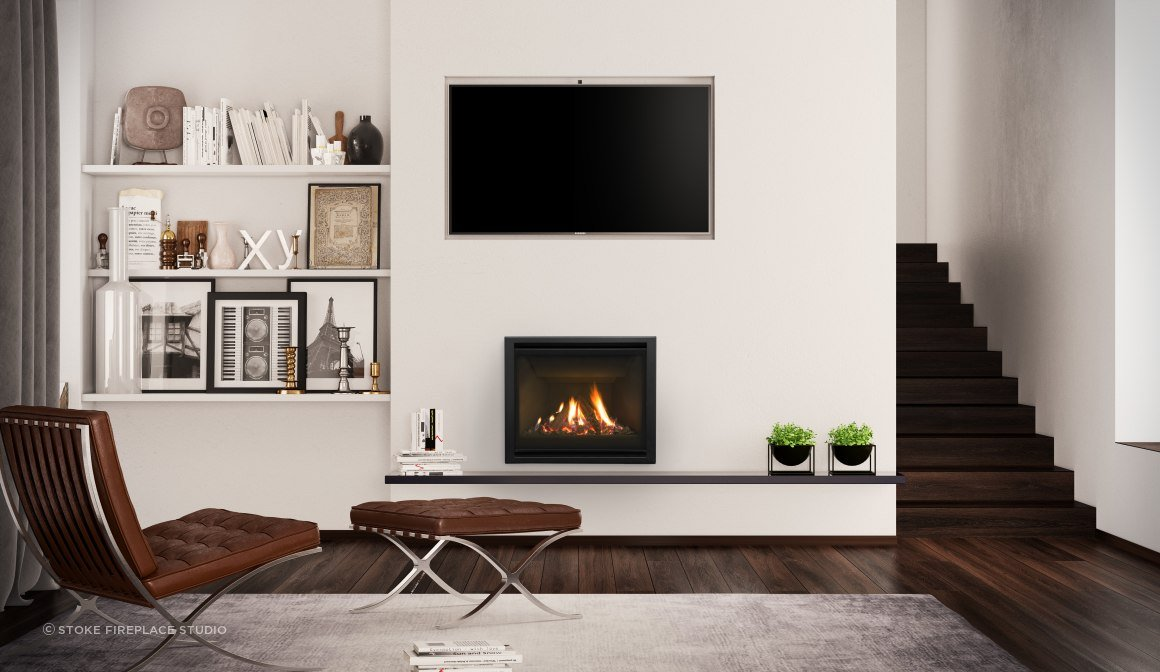 Like other Escea gas fires, the DF700 uses our Direct Vent technology, drawing from outside the home into its sealed unit, keeping your home free of moisture and fumes. The flue pipes can be dropped down an existing chimney.