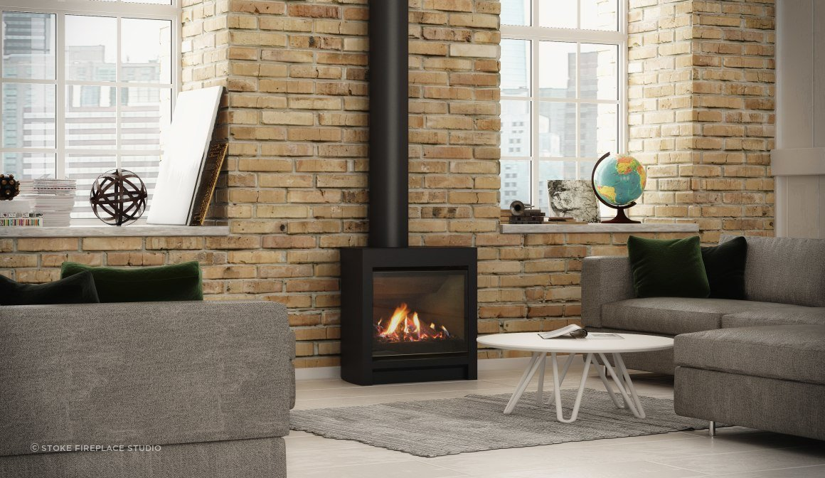 The DFS730 is Escea's free-standing gas fireplace. Like your woodburner – same flame, same heat, but no messy wood.