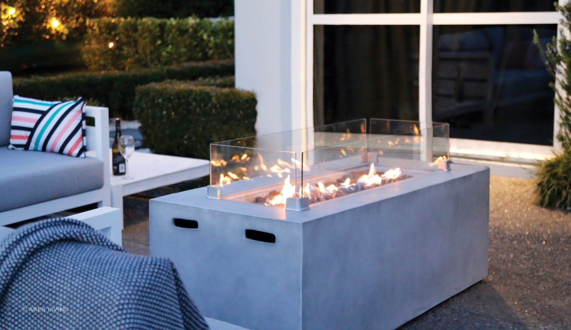 Cinder Gas Fire Table