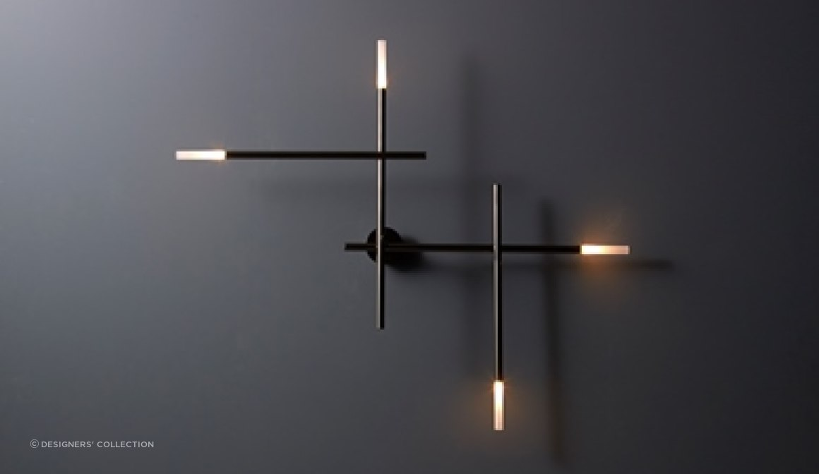 Linear wall light design by VeniceM.  Also available as a ceiling pendant.