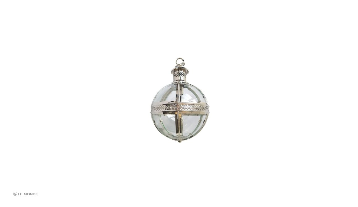 Nickle Plated Glass Ball Pendant Light