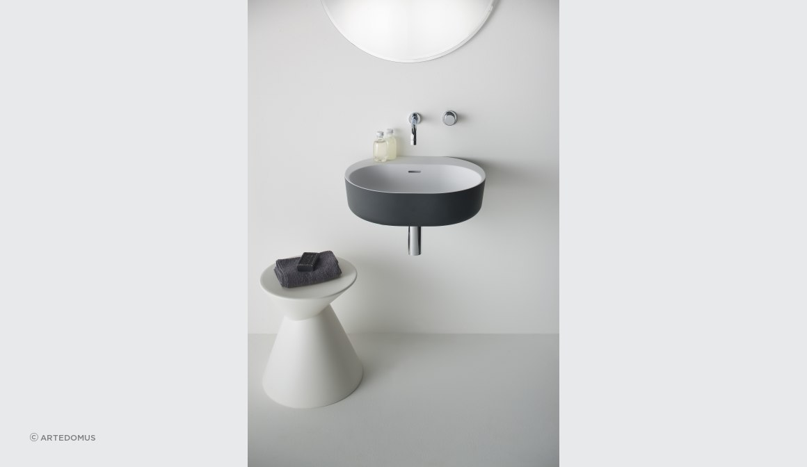Lilli 550 basin with charcoal softskin