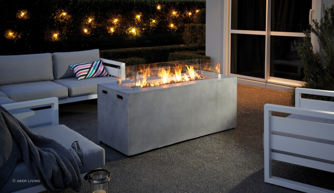 Gasmate Cinder Gas Fire Table with 9kg Storage
