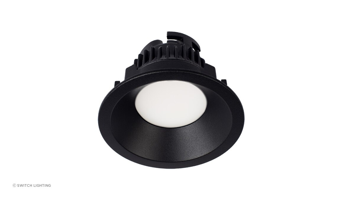 ZELA Luminaires Deep Fixed Opaque SLDL223F Black