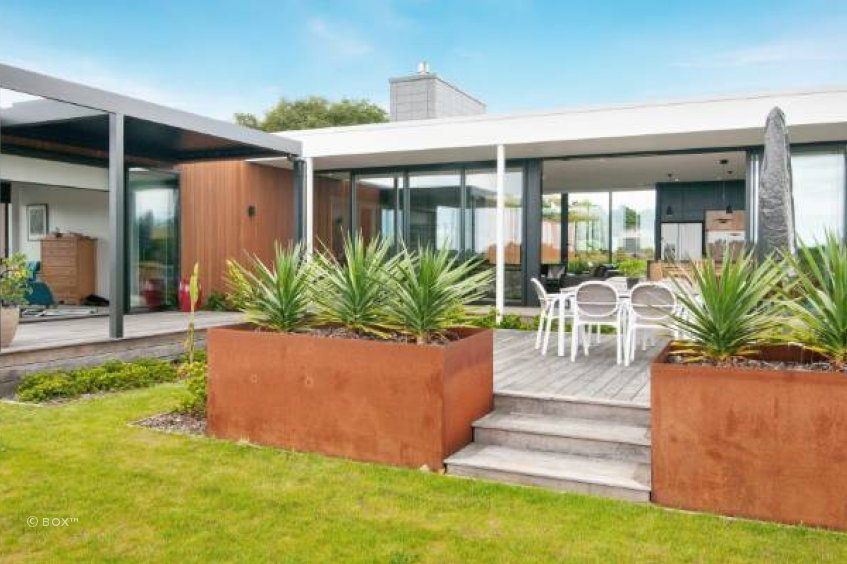 Large scale planters can have high impact in outdoor areas or courtyards.