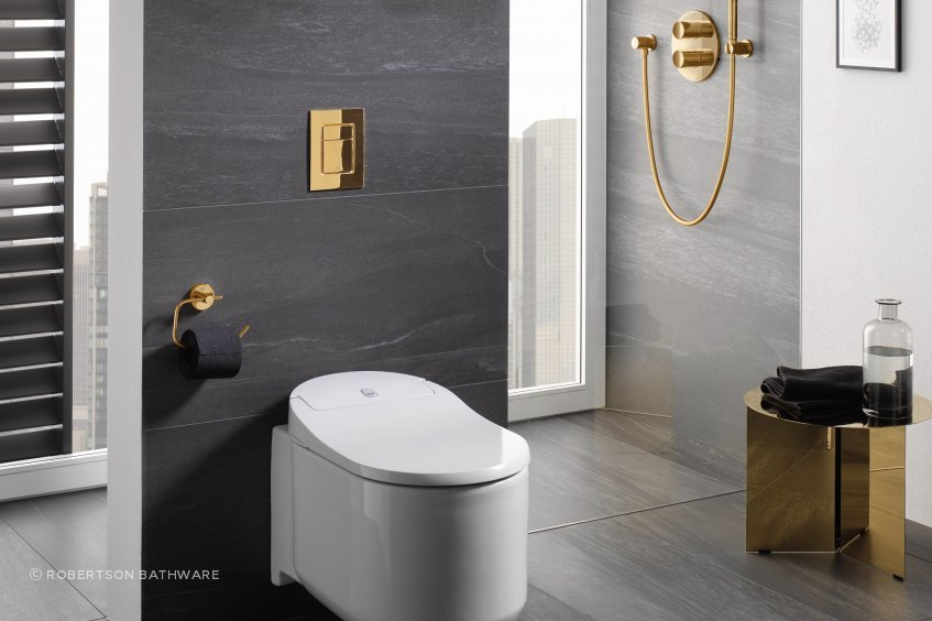 More comfortable, hygienic and soothing than using paper, with the GROHE Sensia Arena you can experience a new standard of personal hygiene