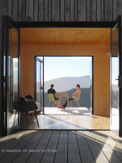 Warrander Studio is New Zealand's first full CLT home, designed and fabricated utilising BIM and CNC manufacturing technologies.
