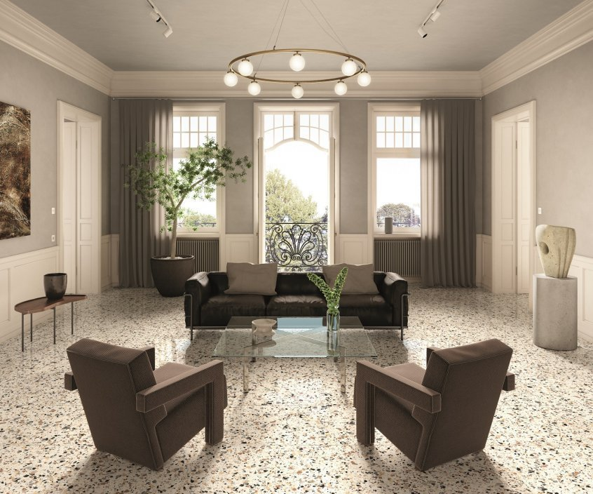 Recreating the terrazzo: an interplay of colours