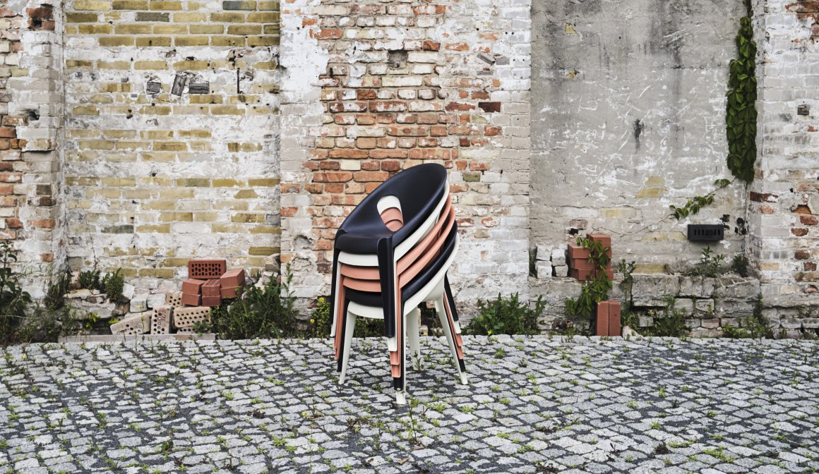 Bell Chair by Magis, stackable & available in 3 colours.