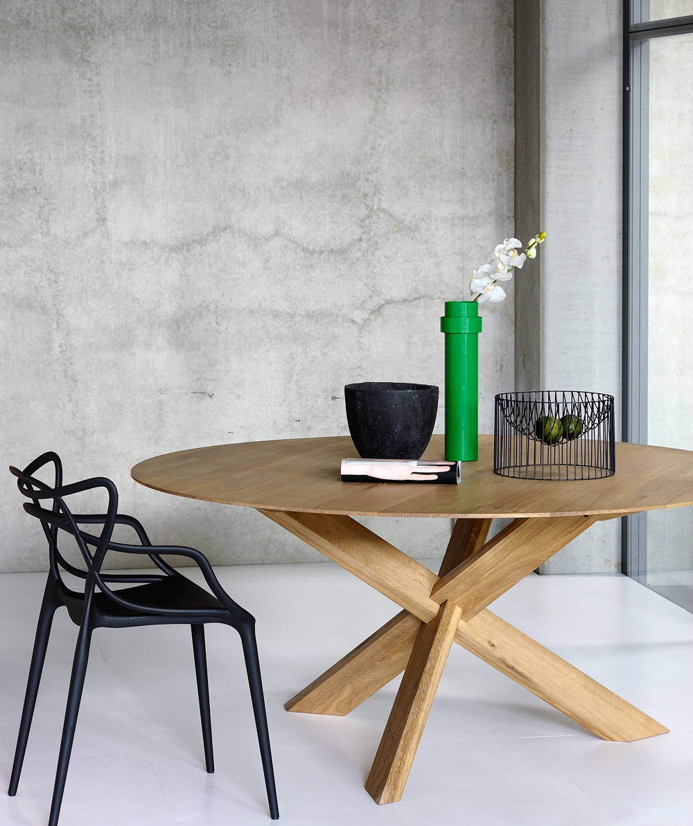 Picture of: Ethnicraft Circle Dining Table Dining Tables Nz Archipro