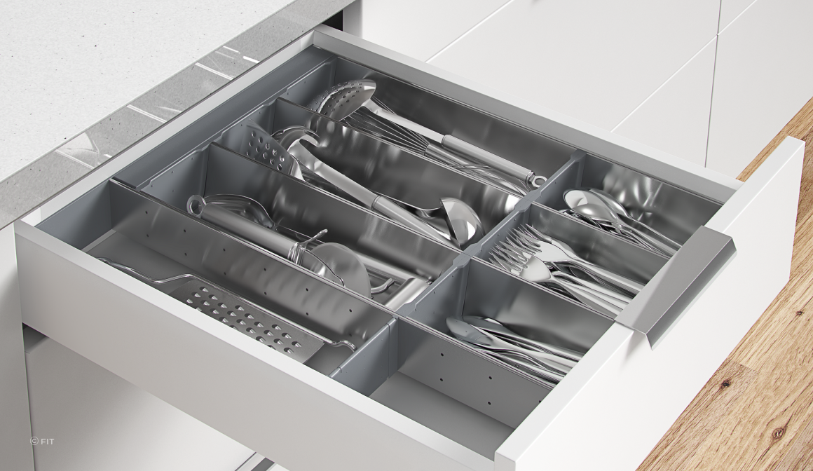 Inoxa Stainless Steel Organisers Are Perfect for Cutlery Drawers