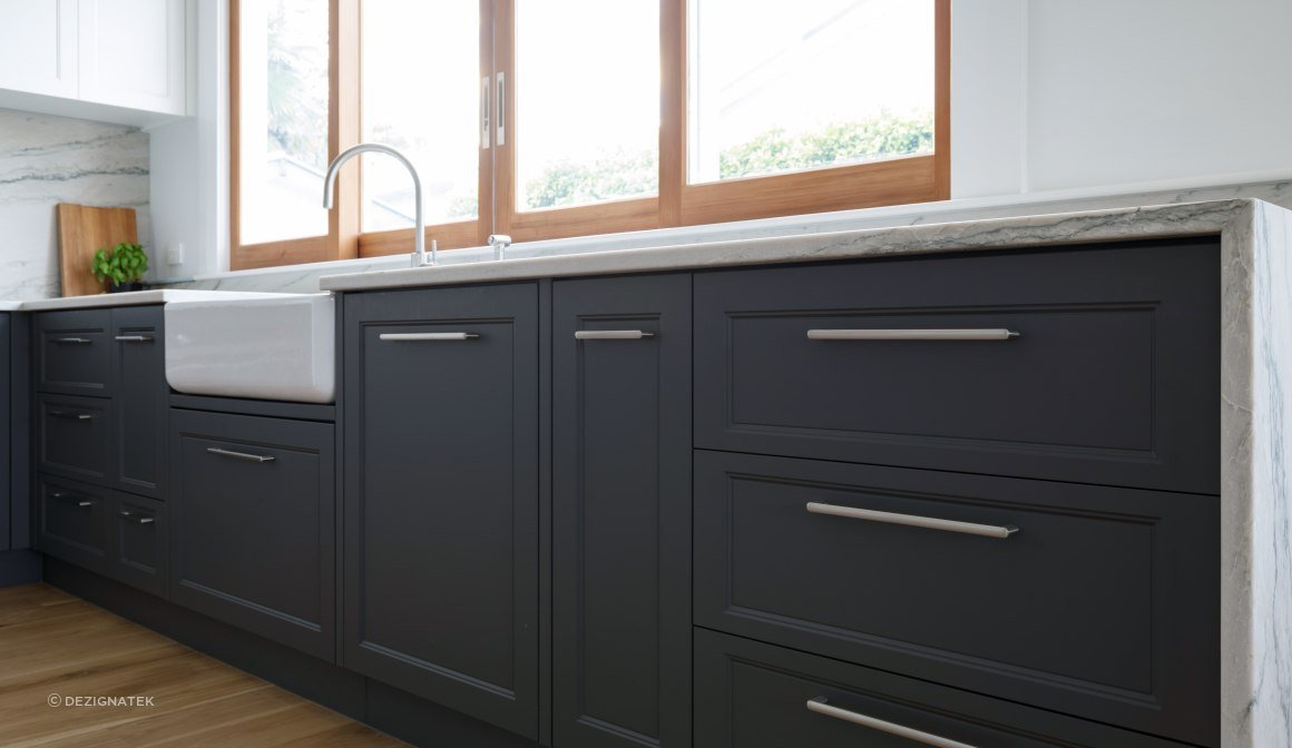 Contemporary Profile in Slate Grey.   Royale Kitchens.