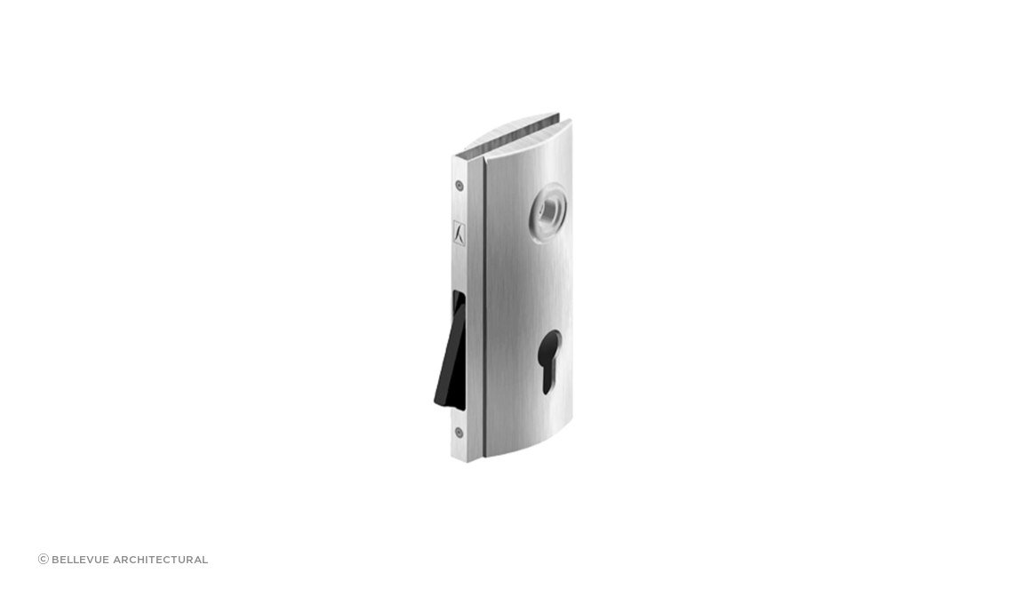 BL008 Glass plate with magnetic lock - Door Hardware