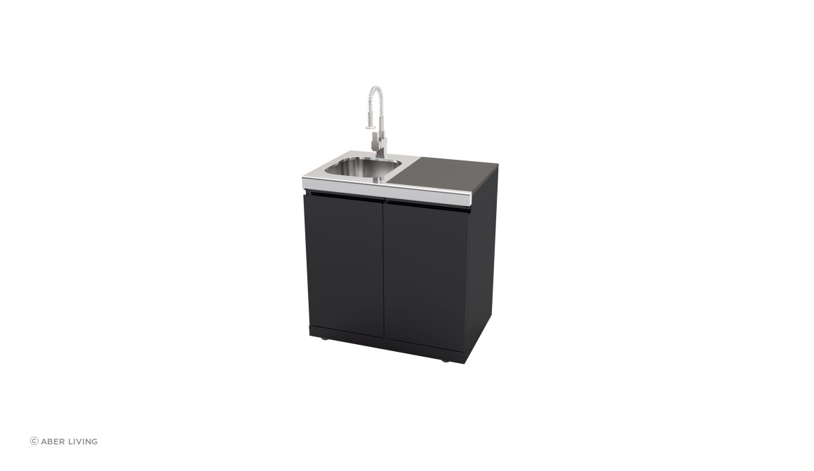 Galaxy Black Sink, Bin and Storage Module
