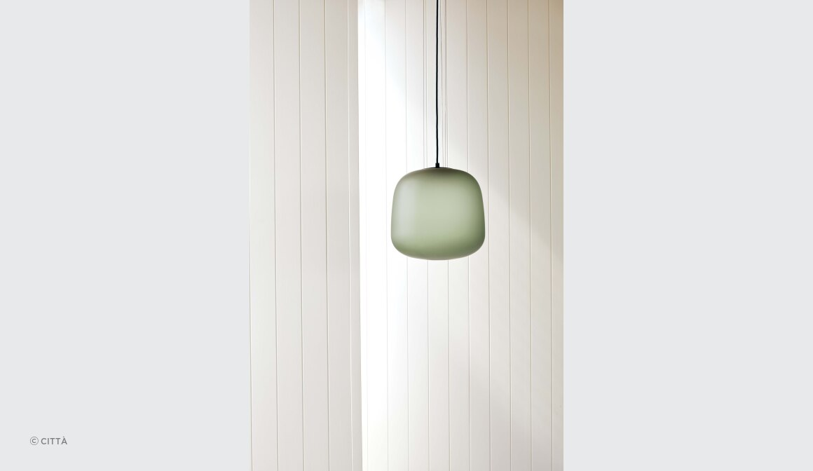 AB Pendant Light Frosted Smoke Grey/ Green