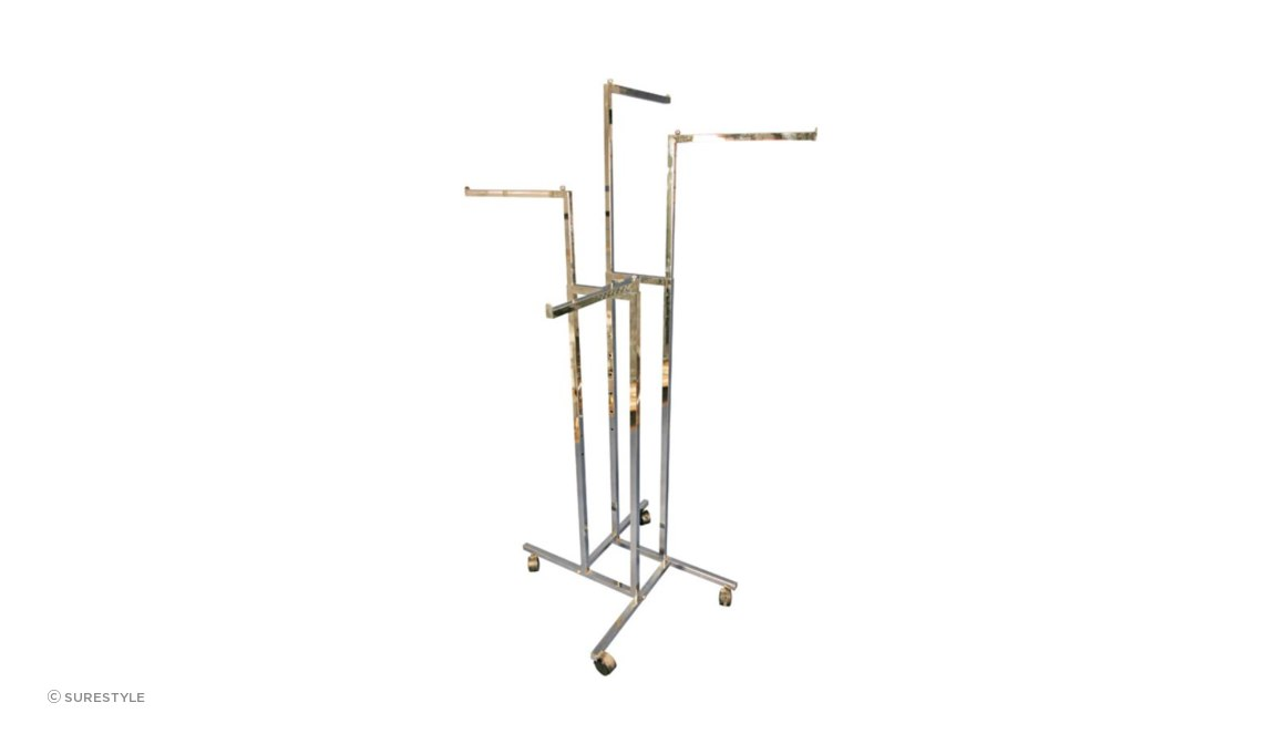 4 Way Straight Arm Retail Clothing Rack