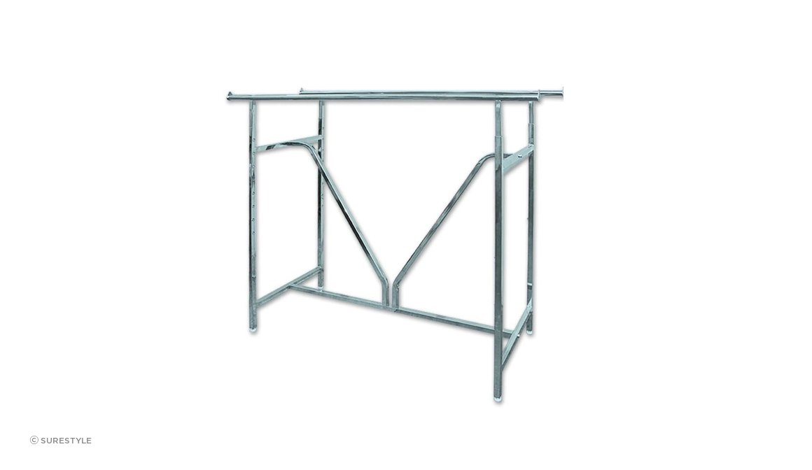 Double Rail Heavy Duty V Rack Chrome