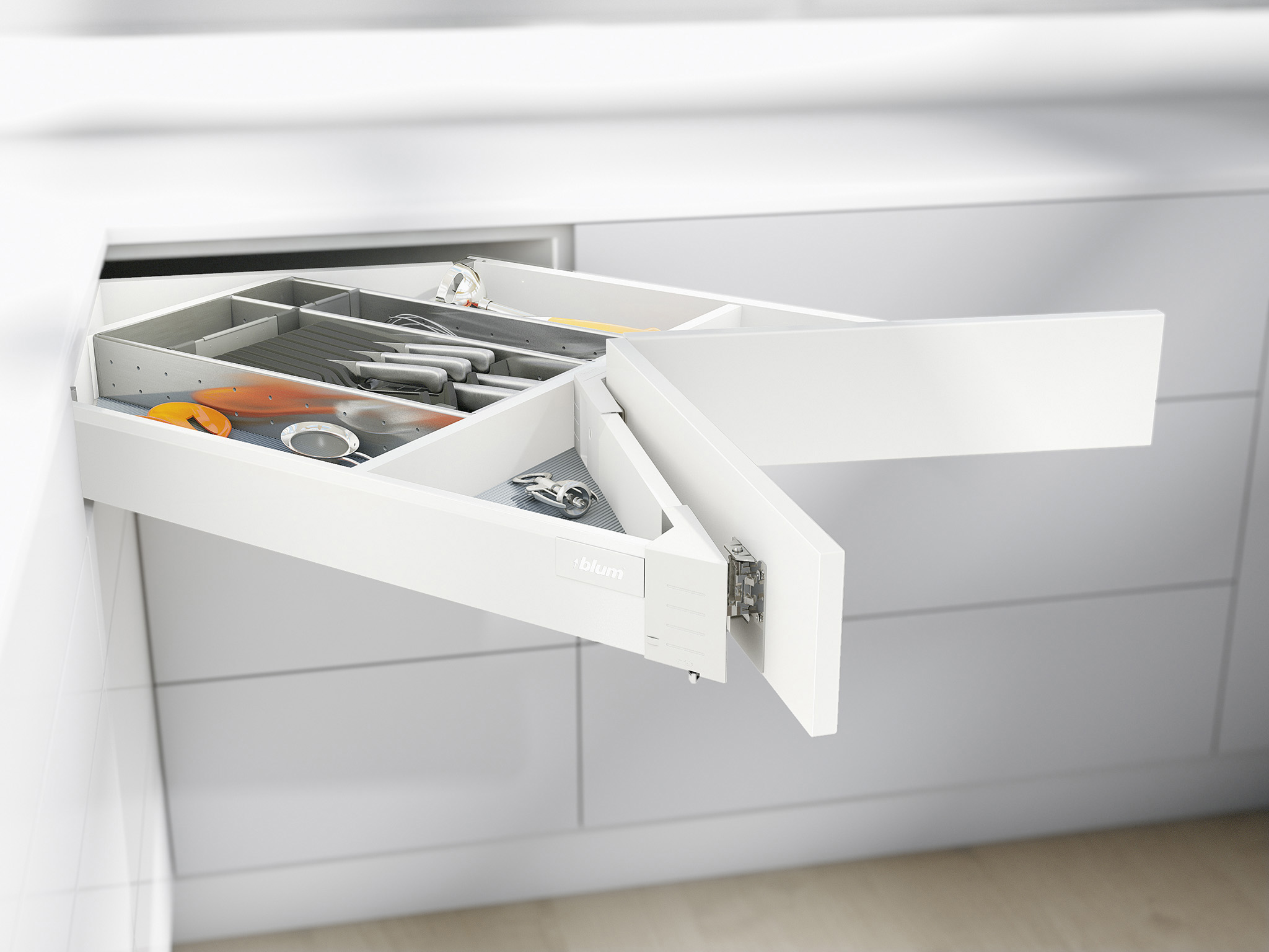 Corner Drawer Tandembox Antaro Space Corner Drawers Blum A Archipro